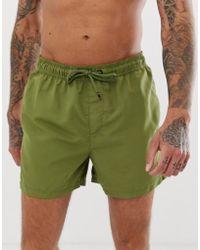 Jack & Jones Intelligence Swim Shorts With Contrast Lining - Green
