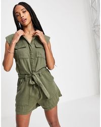ONLY Sleeveless Utility Playsuit - Green