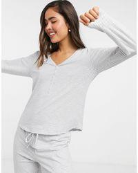 Lindex - Серый Топ От Пижамы Из Органического Хлопка В Полоску  - Lyst