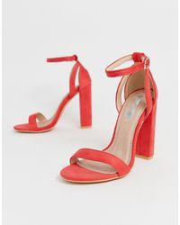 Lost Ink Blaise Block Heel Sandal - Pink