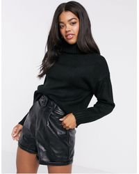 New Look Chunky Roll Neck Sweater - Black