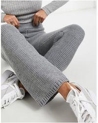 Skylar Rose Pantalon large d'ensemble en maille texturée - Gris