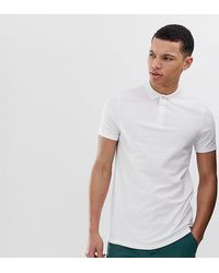 ASOS - Tall Jersey Polo In White - Lyst