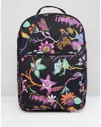 adidas Originals - Floral Print Backpack - Lyst