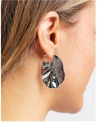 ASOS Boucles d'oreilles texturées - é - Métallisé