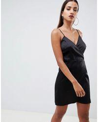 ASOS - Mini Cami Wrap Dress - Lyst