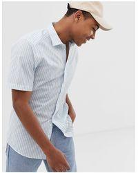 Only & Sons Short Sleeve Stripe Shirt - Blue