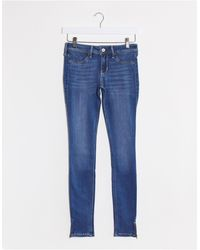 Hollister Mid Rise Skinny Jeans - Blue