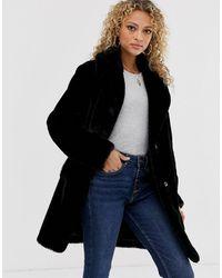 New Look Faux Fur Coat - Black