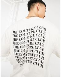 The Couture Club - Relaxed Back Print T-shirt - Lyst