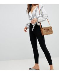 New Look - High Waist Skinny Jeans In Black - Lyst