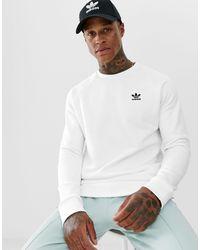 adidas Originals Белый Свитшот С Маленьким Логотипом Essentials