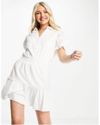 Skylar Rose Robe courte texturée - cassé - Blanc
