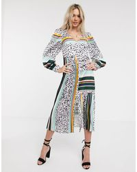 Liquorish Платье Миди С Принтом И Плиссировкой -мульти - Многоцветный