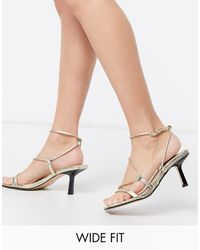 River Island - Wide Fit Strappy Sandals - Lyst