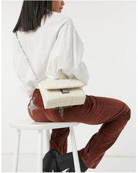 Pull&Bear Borsa da spalla imbottita color crema - Multicolore
