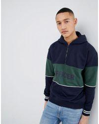 Mango - Man Rugby Zip Neck Sweatshirt With Print In Navy - Lyst