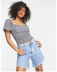 Abercrombie & Fitch Flutter Sleeve Top - Black