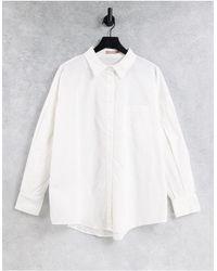 Skylar Rose Oversized Puff Sleeve Shirt - White
