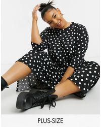 Simply Be Tiered Midi Dress - Black