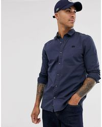 Lacoste Camisa lisa - Azul