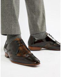 Jeffery West Escobar Contrast Brogue Shoes - Brown