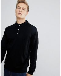 French Connection - Knitted Long Sleeve Polo - Lyst