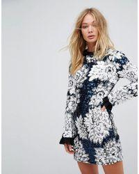 Millie Mackintosh - Embellished Ruffle Mini Dress - Lyst