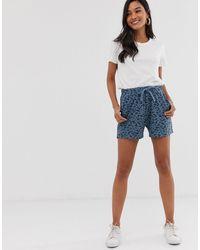 Ichi Pantalones cortos con estampado - Azul