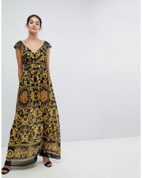 Traffic People - Grecian Belted Maxi Dress - Lyst
