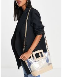 Call It Spring By Aldo Cthrume Double Pouch Chain Crossbody Bag - Blue