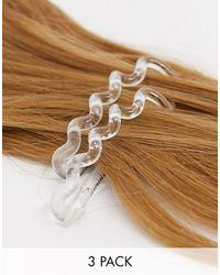 Invisibobble Elastico per capelli a molla grande trasparente cristallo - Multicolore