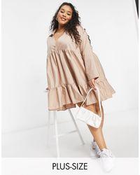 NaaNaa Plus Tiered Smock Dress - Multicolour
