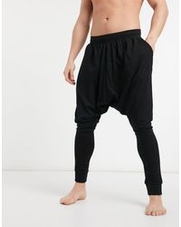 ASOS Lounge Drop Crotch joggers - Black