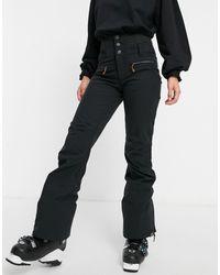 Roxy – Rising – Skihose mit hoher Taille - Schwarz