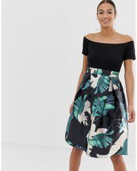 AX Paris - Bardot Full Skirt Dress - Lyst
