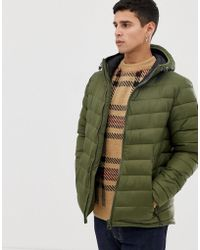 Esprit Puffer With Hood In Khaki - Green