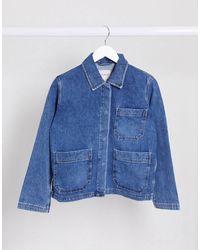 SELECTED Femme Denim Worker Jacket - Blue
