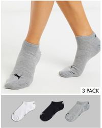 PUMA Набор Из 3 Пар Спортивных Невидимых Носков (черные/белые/серые) -многоцветный