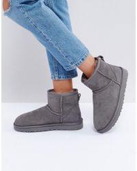 UGG - Classic Mini Ii Grey Boots - Lyst