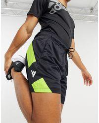 adidas Originals Черные Шорты С Контрастными Вставками Adidas Training-черный - Многоцветный