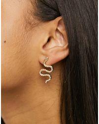 TOPSHOP Asymmetric Earrings - Metallic