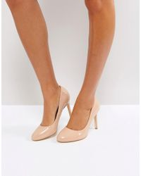 London Rebel - Round Toe Point High Heels - Lyst