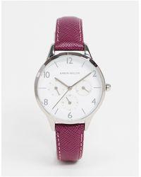 Karen Millen Reloj con correa violeta - Morado