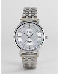 Breda - Unisex Stainless Steel Watch In Silver - Lyst