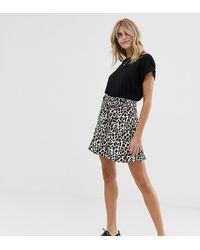 d0b622d2e Minifalda con estampado de leopardo - Negro