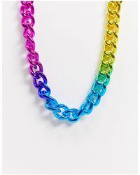 TOPMAN Ожерелье X Pride-мульти - Синий