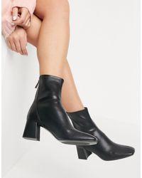 Stradivarius Mid Heel Boots - Black