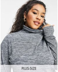 Simply Be Roll Neck Jumper - Grey