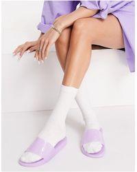 South Beach Сиреневые Шлепанцы Из Гибкого Пластика -фиолетовый Цвет - Пурпурный